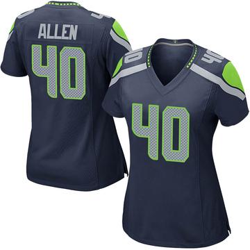 Women's Nike Seattle Seahawks Brian Allen Navy Team Color Jersey - Game