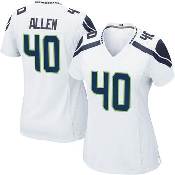Women's Nike Seattle Seahawks Brian Allen White Jersey - Game