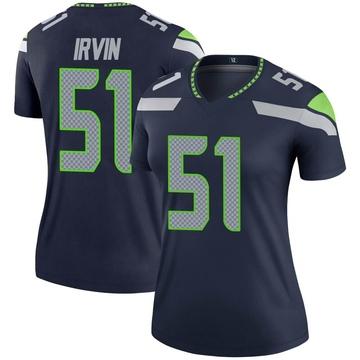 Women's Nike Seattle Seahawks Bruce Irvin Navy Jersey - Legend