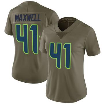 Women's Nike Seattle Seahawks Byron Maxwell Green 2017 Salute to Service Jersey - Limited