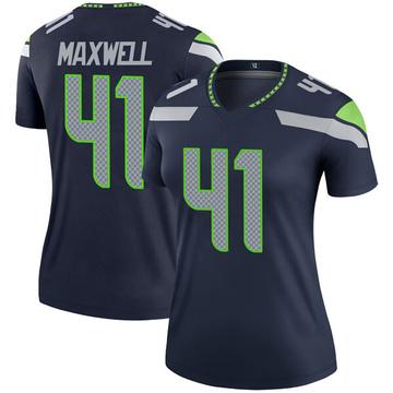 Women's Nike Seattle Seahawks Byron Maxwell Navy Jersey - Legend