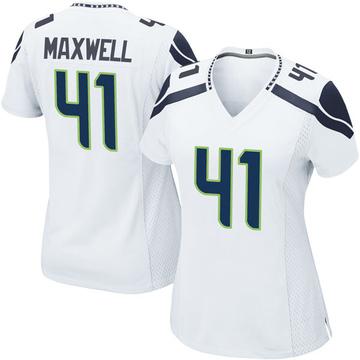 Women's Nike Seattle Seahawks Byron Maxwell White Jersey - Game