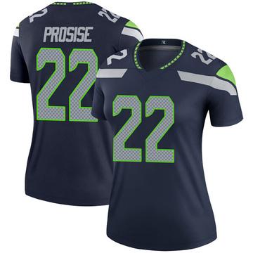 Women's Nike Seattle Seahawks C.J. Prosise Navy Jersey - Legend