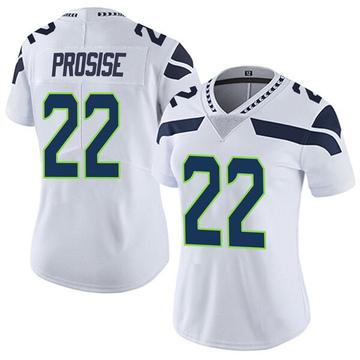 Women's Nike Seattle Seahawks C.J. Prosise White Vapor Untouchable Jersey - Limited