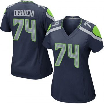 Women's Nike Seattle Seahawks Cedric Ogbuehi Navy Team Color Jersey - Game