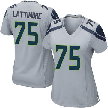 Women's Nike Seattle Seahawks Cedrick Lattimore Gray Alternate Jersey - Game