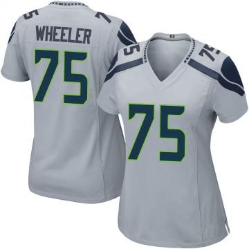 Women's Nike Seattle Seahawks Chad Wheeler Gray Alternate Jersey - Game