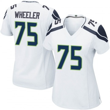 Women's Nike Seattle Seahawks Chad Wheeler White Jersey - Game