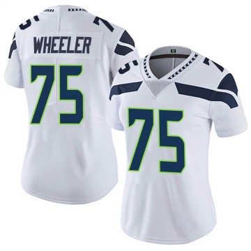 Women's Nike Seattle Seahawks Chad Wheeler White Vapor Untouchable Jersey - Limited