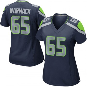 Women's Nike Seattle Seahawks Chance Warmack Navy Team Color Jersey - Game