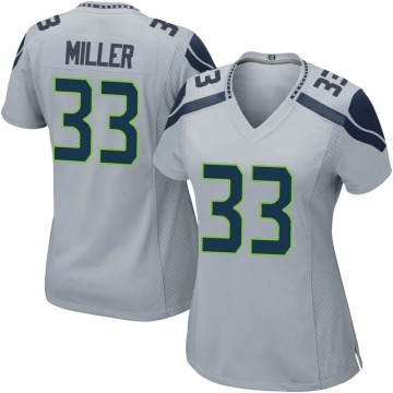 Women's Nike Seattle Seahawks Chris Miller Gray Alternate Jersey - Game