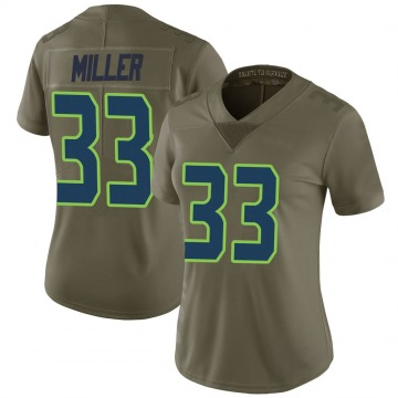 Women's Nike Seattle Seahawks Chris Miller Green 2017 Salute to Service Jersey - Limited
