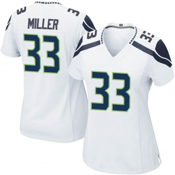 Women's Nike Seattle Seahawks Chris Miller White Jersey - Game