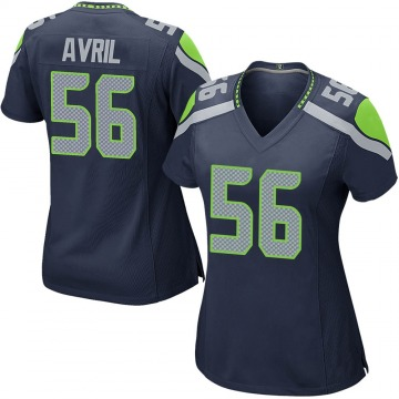 Women's Nike Seattle Seahawks Cliff Avril Navy Team Color Jersey - Game