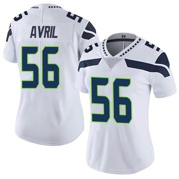 Women's Nike Seattle Seahawks Cliff Avril White Vapor Untouchable Jersey - Limited