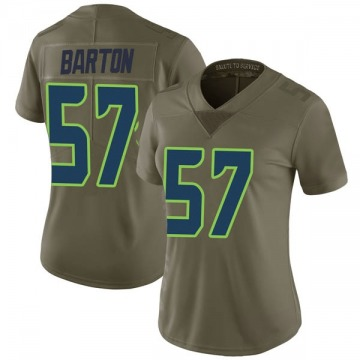 Women's Nike Seattle Seahawks Cody Barton Green 2017 Salute to Service Jersey - Limited