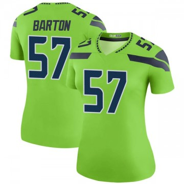 Women's Nike Seattle Seahawks Cody Barton Green Color Rush Neon Jersey - Legend