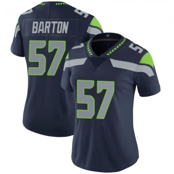 Women's Nike Seattle Seahawks Cody Barton Navy 100th Vapor Jersey - Limited