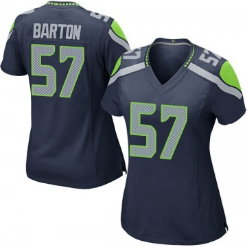 Women's Nike Seattle Seahawks Cody Barton Navy Team Color Jersey - Game