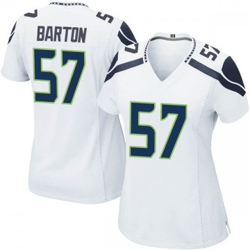 Women's Nike Seattle Seahawks Cody Barton White Jersey - Game