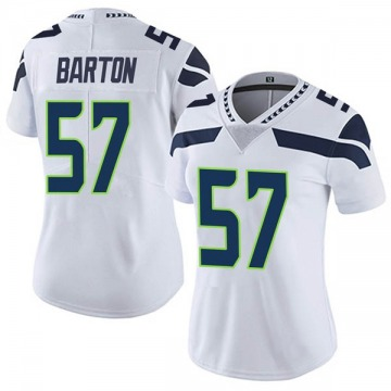 Women's Nike Seattle Seahawks Cody Barton White Vapor Untouchable Jersey - Limited