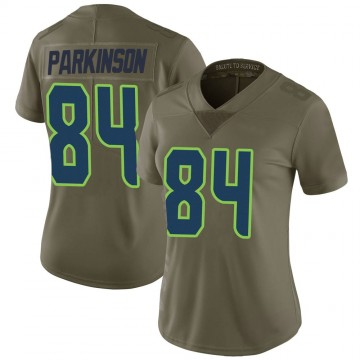 Women's Nike Seattle Seahawks Colby Parkinson Green 2017 Salute to Service Jersey - Limited