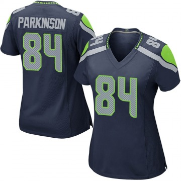 Women's Nike Seattle Seahawks Colby Parkinson Navy Team Color Jersey - Game