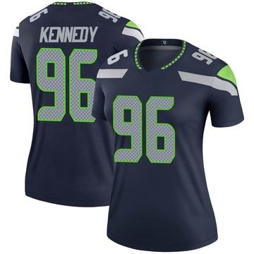 Women's Nike Seattle Seahawks Cortez Kennedy Navy Jersey - Legend