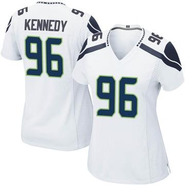 Women's Nike Seattle Seahawks Cortez Kennedy White Jersey - Game