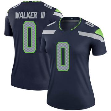 Women's Nike Seattle Seahawks D'Andre Walker Navy Jersey - Legend