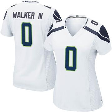 Women's Nike Seattle Seahawks D'Andre Walker White Jersey - Game
