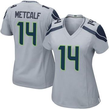 Women's Nike Seattle Seahawks DK Metcalf Gray Alternate Jersey - Game