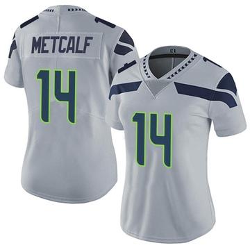 Women's Nike Seattle Seahawks DK Metcalf Gray Alternate Vapor Untouchable Jersey - Limited