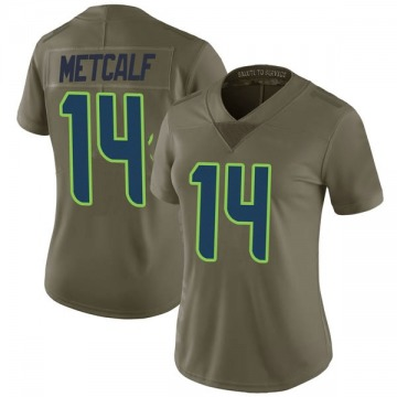 Women's Nike Seattle Seahawks DK Metcalf Green 2017 Salute to Service Jersey - Limited