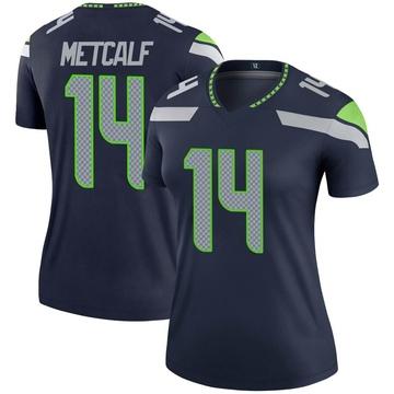 Women's Nike Seattle Seahawks DK Metcalf Navy Jersey - Legend