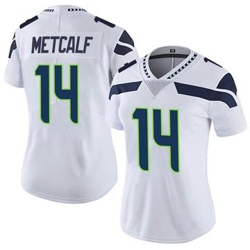 Women's Nike Seattle Seahawks DK Metcalf White Vapor Untouchable Jersey - Limited