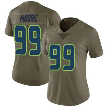Women's Nike Seattle Seahawks Damontre' Moore Green 2017 Salute to Service Jersey - Limited