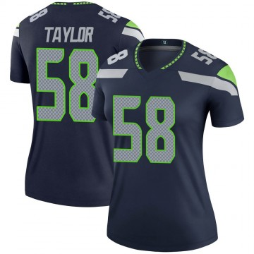 Women's Nike Seattle Seahawks Darrell Taylor Navy Jersey - Legend