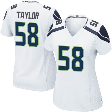 Women's Nike Seattle Seahawks Darrell Taylor White Jersey - Game