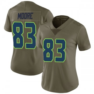 Women's Nike Seattle Seahawks David Moore Green 2017 Salute to Service Jersey - Limited