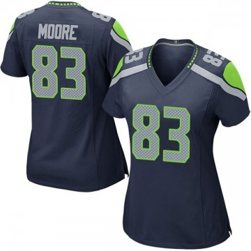 Women's Nike Seattle Seahawks David Moore Navy Team Color Jersey - Game