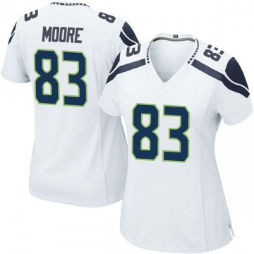 Women's Nike Seattle Seahawks David Moore White Jersey - Game