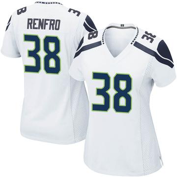 Women's Nike Seattle Seahawks Debione Renfro White Jersey - Game