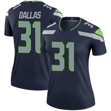 Women's Nike Seattle Seahawks DeeJay Dallas Navy Jersey - Legend