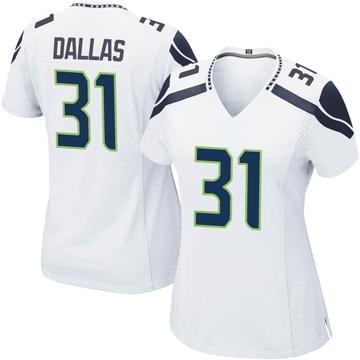 Women's Nike Seattle Seahawks DeeJay Dallas White Jersey - Game