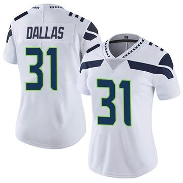 Women's Nike Seattle Seahawks DeeJay Dallas White Vapor Untouchable Jersey - Limited