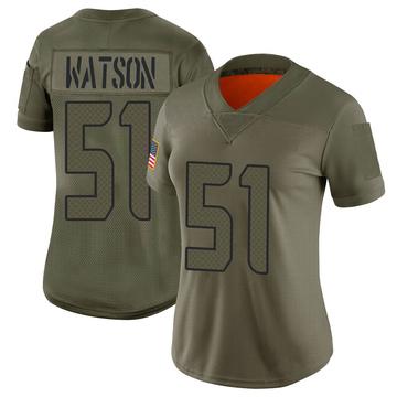 Women's Nike Seattle Seahawks Dekoda Watson Camo 2019 Salute to Service Jersey - Limited