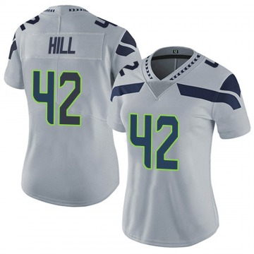 Women's Nike Seattle Seahawks Delano Hill Gray Alternate Vapor Untouchable Jersey - Limited