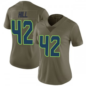 Women's Nike Seattle Seahawks Delano Hill Green 2017 Salute to Service Jersey - Limited