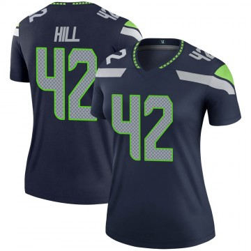 Women's Nike Seattle Seahawks Delano Hill Navy Jersey - Legend